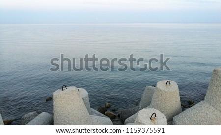Coast wave braker stones #1159375591