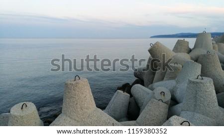 Coast wave braker stones #1159380352