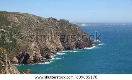 Coastal Cliffs And Ocean