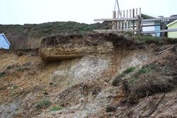 Coastal Erosion around Highcliffe in Dorset
