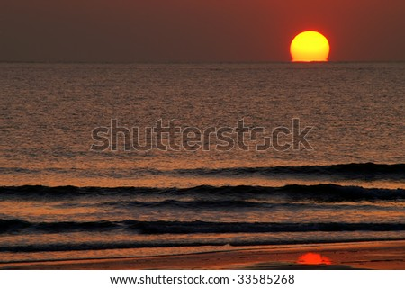 Coastal Georgia Sunrise Horizontal With Copy Space