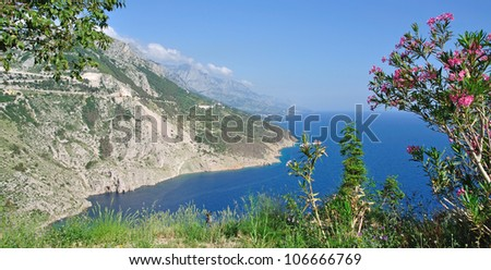 coastal landscape at the Makarska Riviera,Dalmatia,Croatia