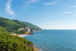 Coastal Scene on the Cabot Trail (Cape Breton, Nova Scotia, Canada)