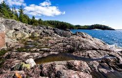 Coastal trail along the north shore of Lake Superior