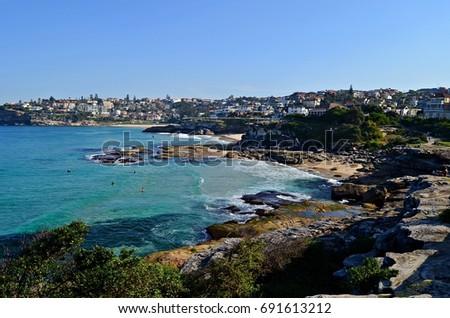 Coastal walk from Bondi Beach to Tamrama Beach in Sydney, Australia