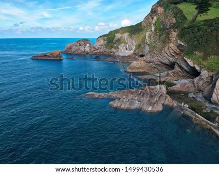 Coastline and coastal features cliffed coastline