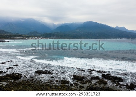 Coastline and hill