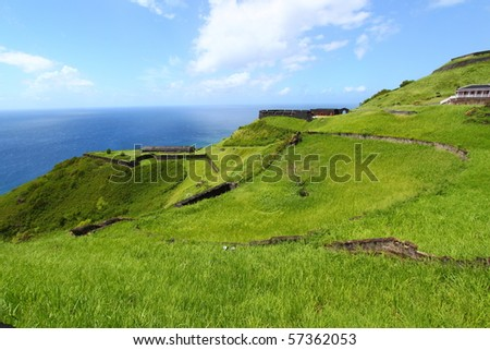 Coastline at Brimstone Hill Fortress - Saint Kitts