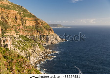 Coastline at Chapman's Peak Drive near Cape Town, South Africa