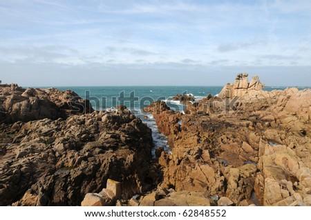 Coastline at Les Grandes Rocques, Guernsey