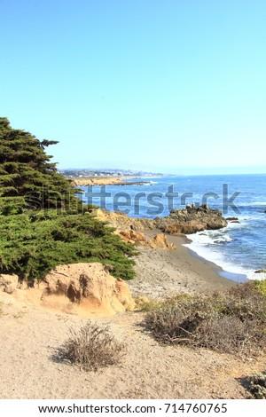 Coastline in Cambria, California #714760765