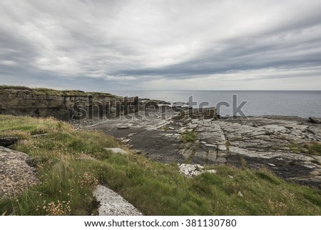 Coastline near Wick in the scottish highlands. #381130780