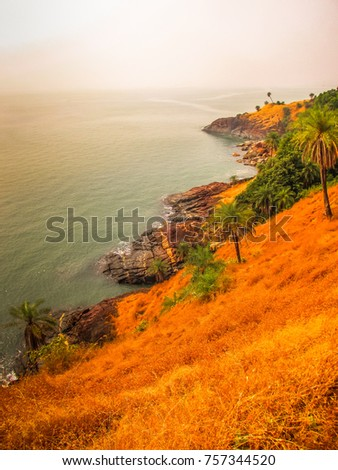 coastline of Karnataka in India #757344520