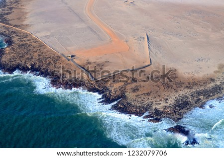 coastline of namibia #1232079706