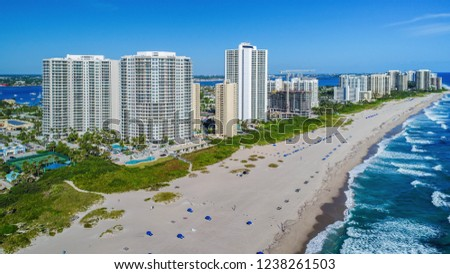 Coastline of Singer Island, Florida, USA. #1238261503