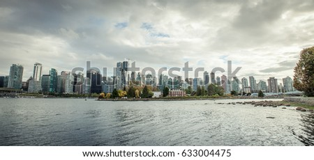 Coastline of Vancouver BC during autumn #633004475