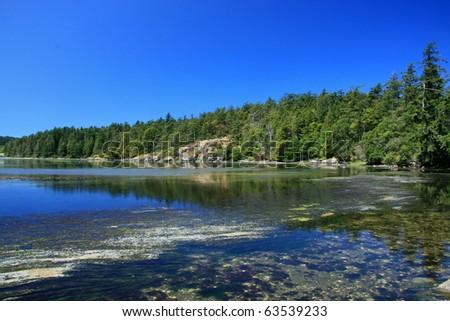 Coastline of Victoria on Vancouver Island, BC, Canada - stock photo