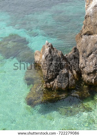 Coastline on Favignana island in Sicily, Italy, the Aegadian #722279086