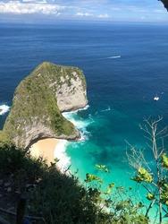 Coastline shore blue water indonesia