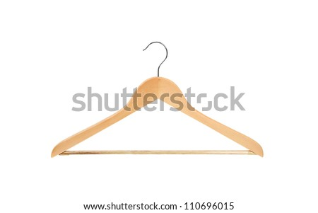 Coat hanger isolated on white - stock photo