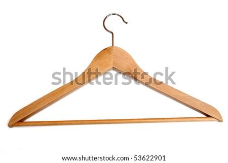 coat hanger isolated on white