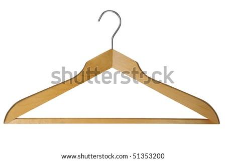 coat hanger isolated on white  background