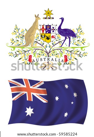Coat of arms and flag of Australia