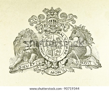 coat of arms of great britain...