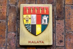 Coat of arms of the federation of Malaya before it beama Malaysia