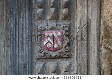 Coat of arms of Wadham College Oxford one of the constituent colleges of the university the badge or crest is carved on the Great Gate to the Bodleian library