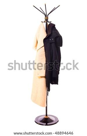 coat rack isolated on white Foto d'archivio ©