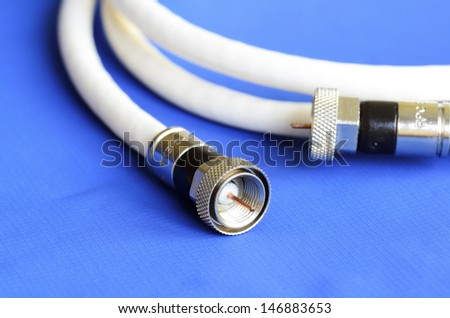 Coax television cable concept of entertainment and communication