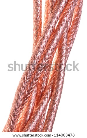 Coaxial cables braided copper