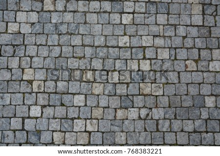 Cobble Stone Road In Lines Grey Background