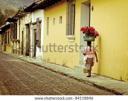 cobble streets Antigua Guatemala