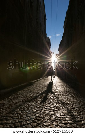 Cobbles at sunset #612916163