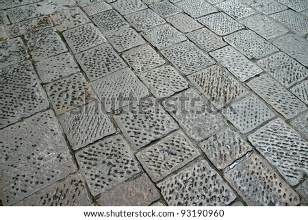 Cobbles on road in Rome