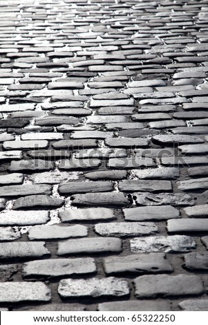 Cobblestone background with diminishing perspective