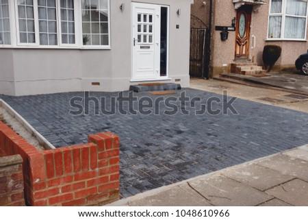 Cobblestone driveway, residential area, London, England. #1048610966