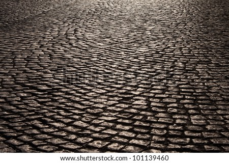 Cobblestone Road Stock Photo 101139460 Shutterstock
