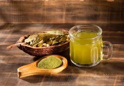 Coca tea and leaves - Erythroxylum coca