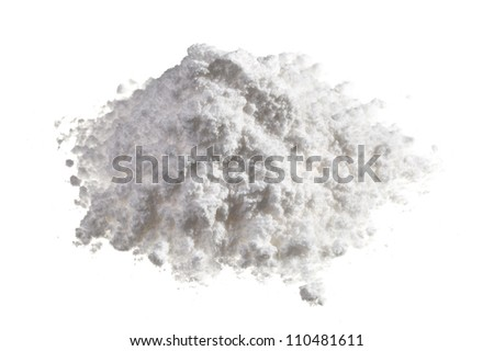 Cocaine drugs heap isolated on white, close up view