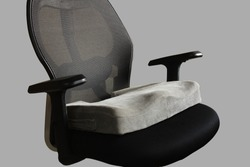 Coccyx seat cushion in office chair