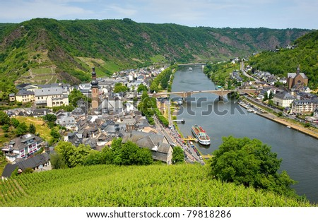 Cochem city on the banks of the river Mosel In Germany is popular by tourists.