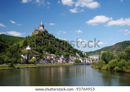 Cochen Castle, Germany and Mosel river
