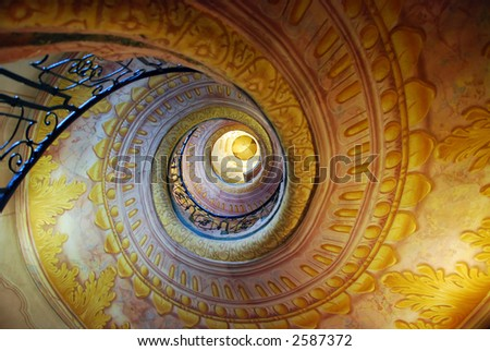 cockle stairs at a monastery in austria