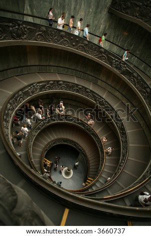 cockle stairs in Vatican City - stock photo