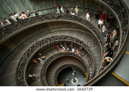 cockle stairs in Vatican City