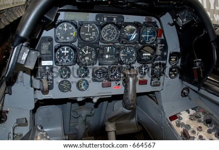 Cockpit of the T28 Trojan Attack Aircraft