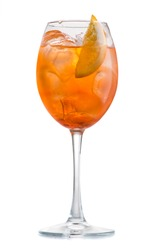 cocktail aperol spritz isolated on white